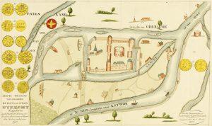 Oude kaart Nederland uit Romeinse tijd
