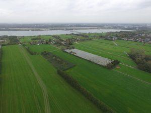 © afd. Erfgoed gemeente Utrecht. Luchtfoto van de huidige situatie van Haarzicht vanuit het zuidoosten.