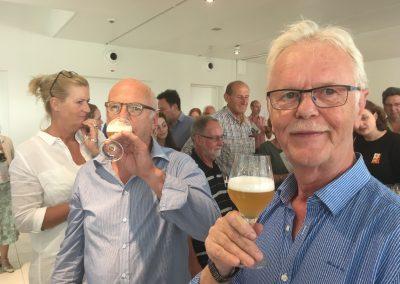 Peter Mocking (naamgever van het bier de Mockingbird) en Wim de Vrankrijker.