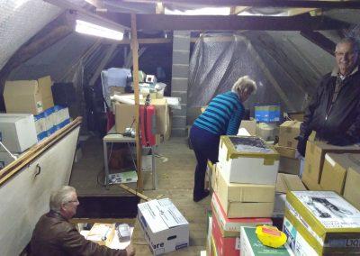 Werkzaamheden op de zolder van de Broederschapshuisjes